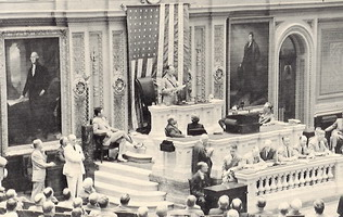 King George II addresses the US congress