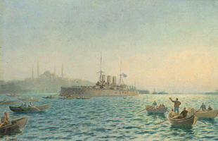 The Averoff in Constantinople