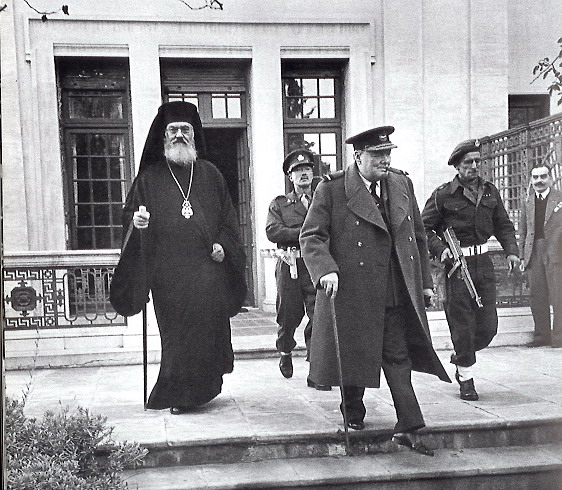 Archbishop Damaskinos and Winston Churchill