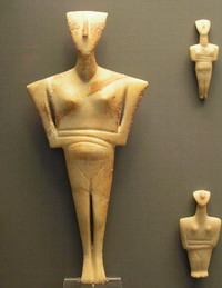 Early Cycladic figure from Sifnos