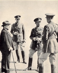 Metaxas, King George, Prince Paul and General Papagos on the Albanian front