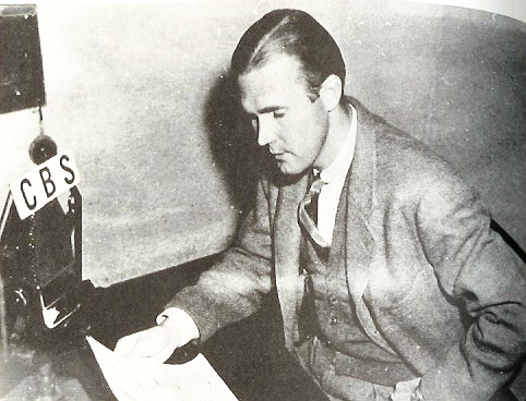 George Polk broadcasting for CBS