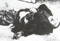 Starvation victim in Athens