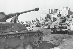 German tanks and the Acropolis Propylea